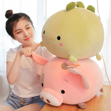 Ball-Shaped Dinosaur Toy Animal-Doll Stuffed Pig Dog-Elephant Squishy Plush Forest Elastic