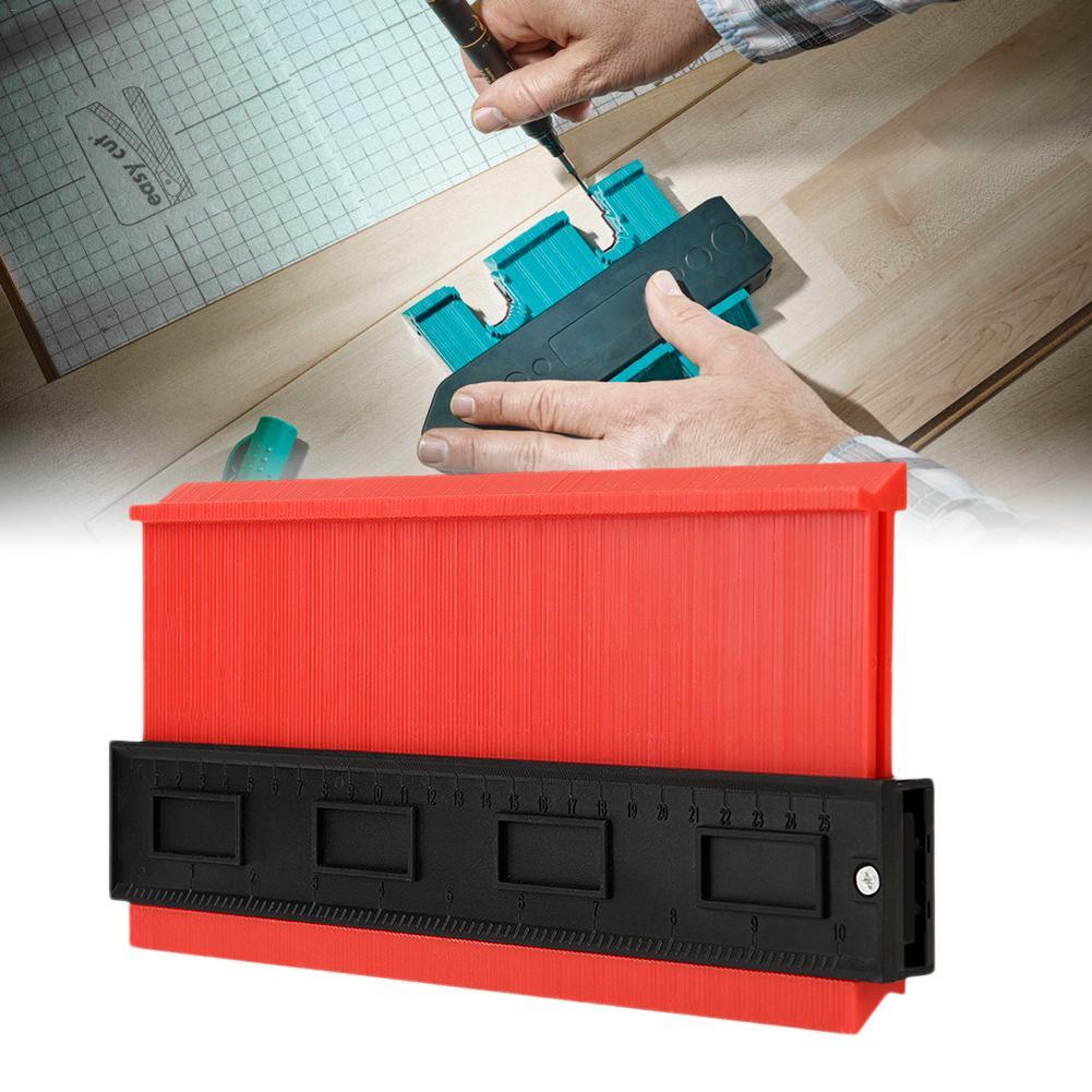 azulejos duplicador para transferir contornos y cortes Medidor de contorno madera m/ás variada con cinta m/étrica para mediciones precisas herramienta de marcar laminado regla de perfil