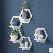 Wall-Shelf Stand Flower-Pot Tv-Background-Wall-Hanger Balcony Bedroom Creative