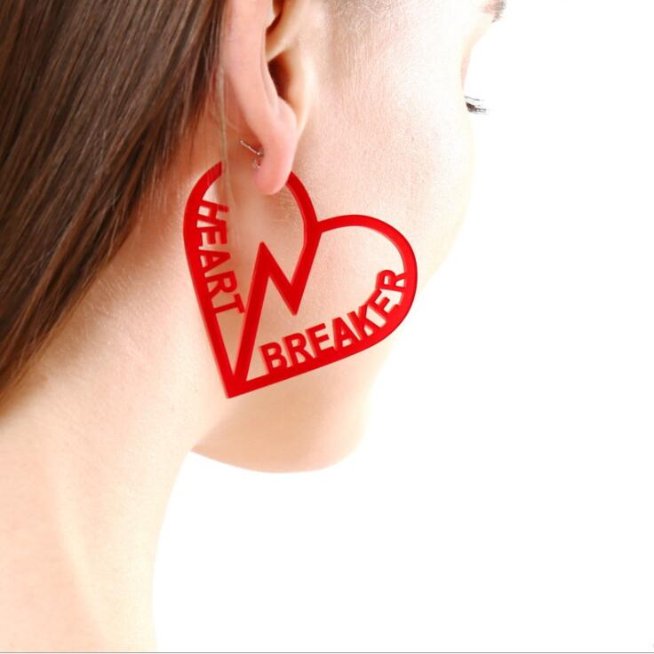 Earrings For Women Kelly Earrings Fashion Charm Exaggerated Eardrop Trendy Hip Hop Girls Gift Cute Sweet Heart Exaggeration 8