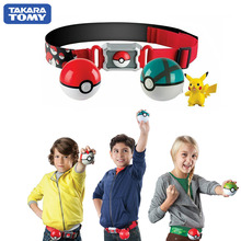 Genuine US Version Pokemon Master Elf Ball Belt Set Telescopic TAKARA TOMY Toys for Children