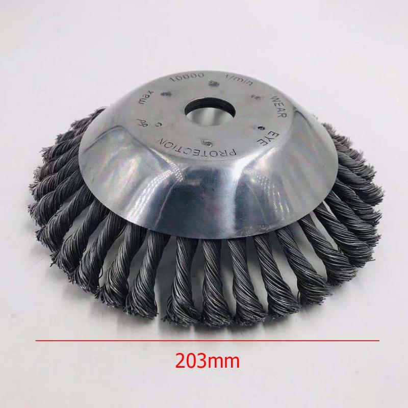 Landscaping Rotary Weed Brush Joint Twist Knot Steel Wire Wheel Brush Disc Set