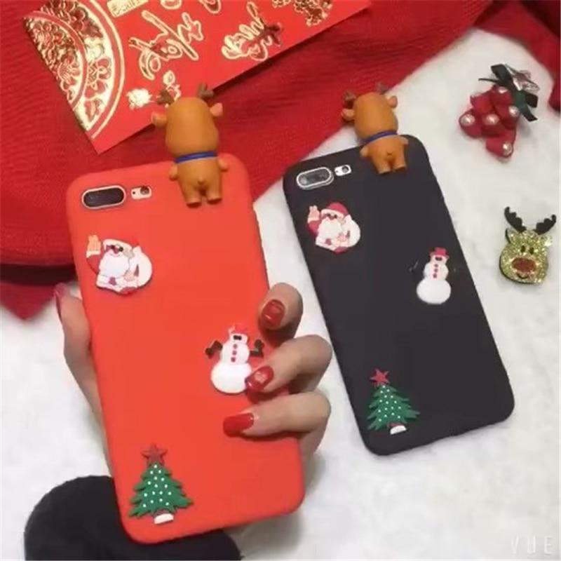Christmas Case For Xiaomi Redmi Note 5 6 7 Pro S2 Mi A1 A2 A3 8 Lite 9 SE CC9 CC9e K20 Pro Cover Cartoon NEW YEAR Gift TPU Cases