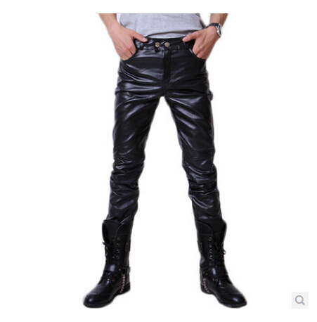 Leather Pants Faux Leather Pants Mens joggers Street Hip Ho