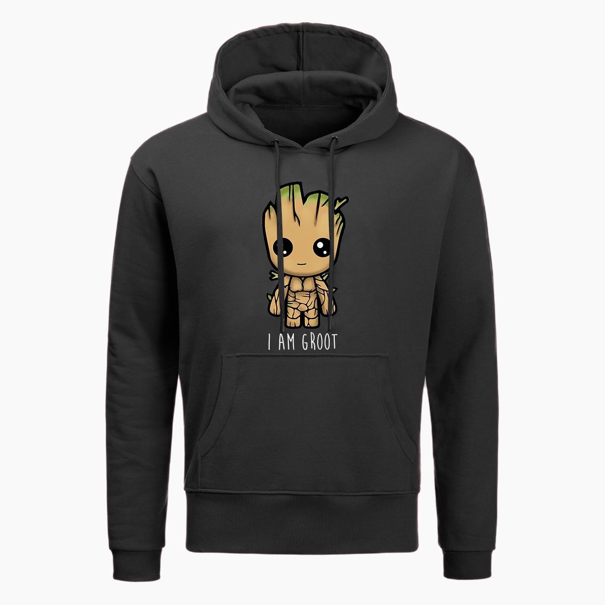2019 New I Am Groot Hoodie Men Fashion Hoodie Casual Marvel Anime Hoodies Autumn Winter Hip Hop Streetwear Harajuku Hoody