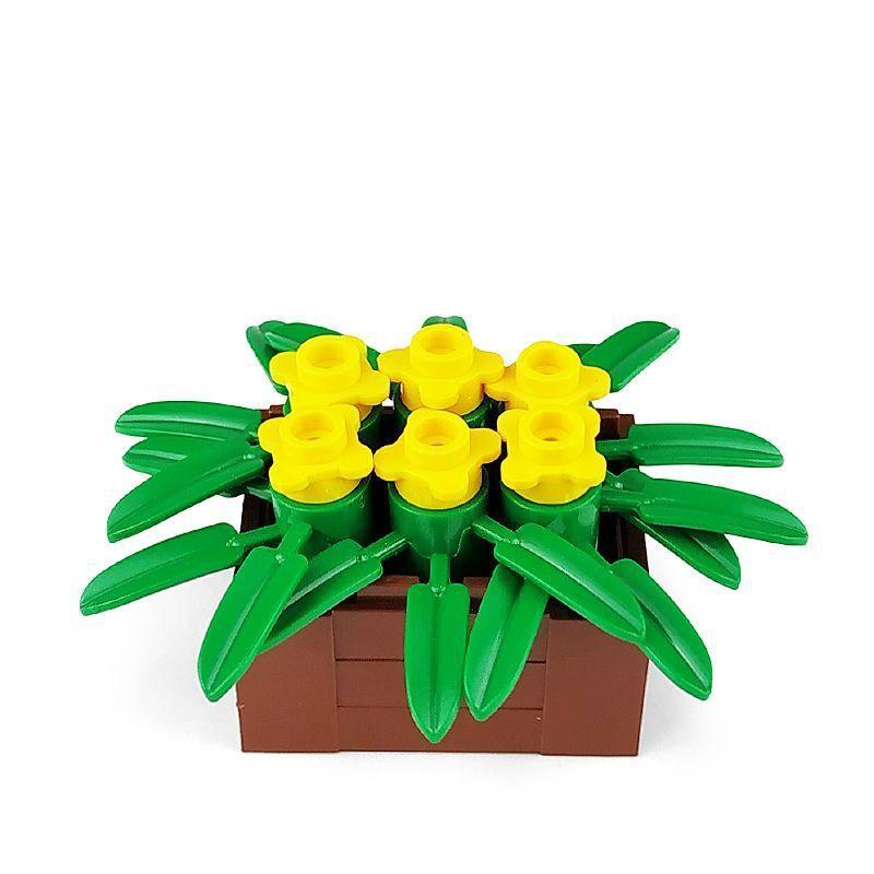 Legoing City Blocks MOC Creator Bricks The Potted Plant Building Blocks Assemble Toy Creative Parts Toys for Children Flower Diy