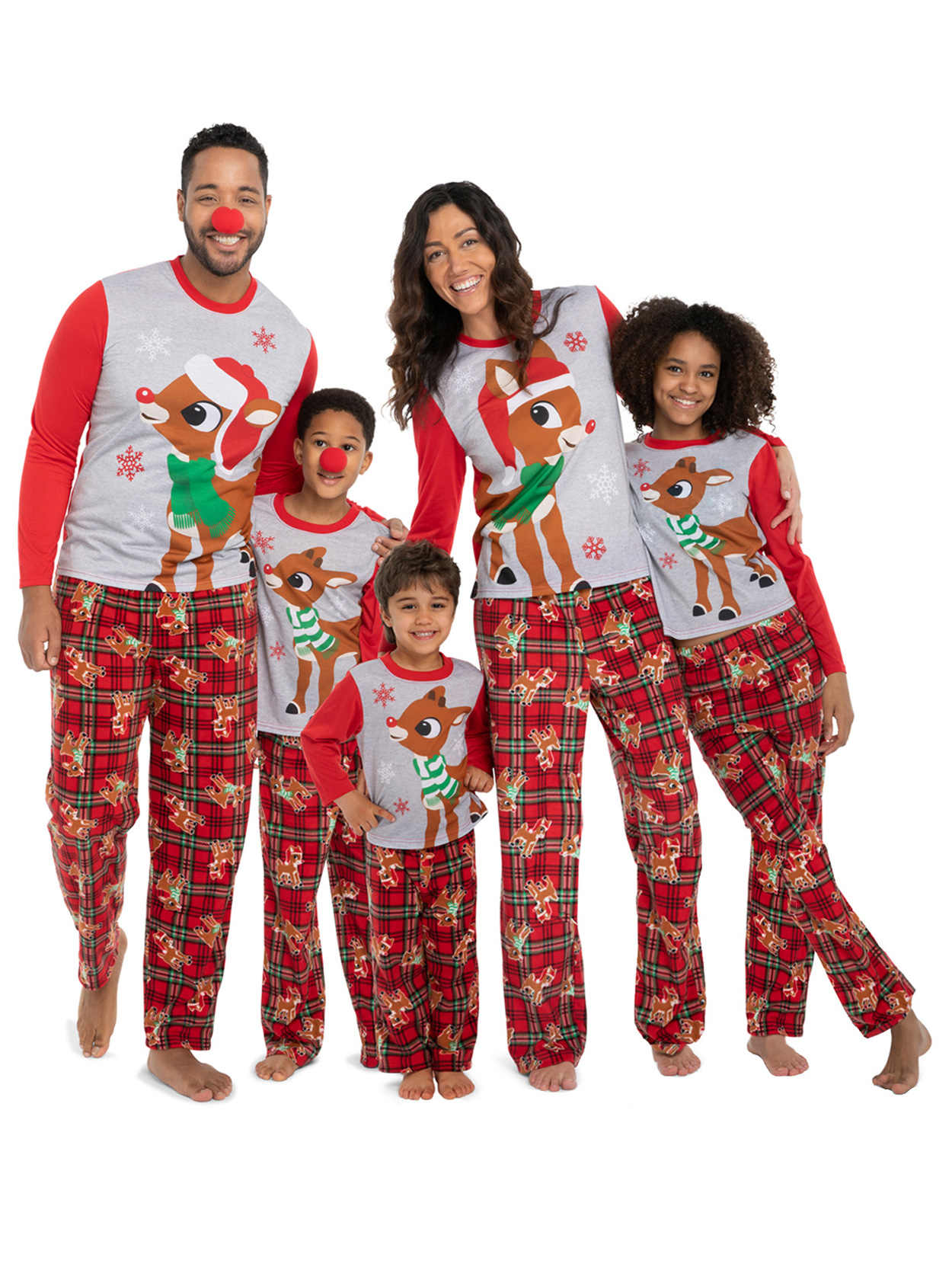 Family Pajamas Set Adult Women Kids New Christmas Deer Nightwear Pyjamas Outfit