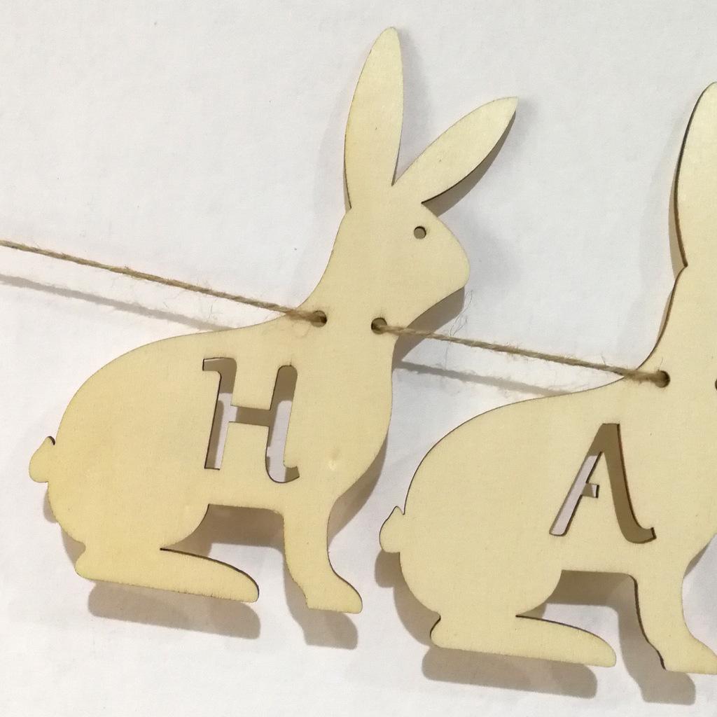 3m Lovely Kaninchen Ostern Bunting Banner Flagge Hochzeitsfeier hängende