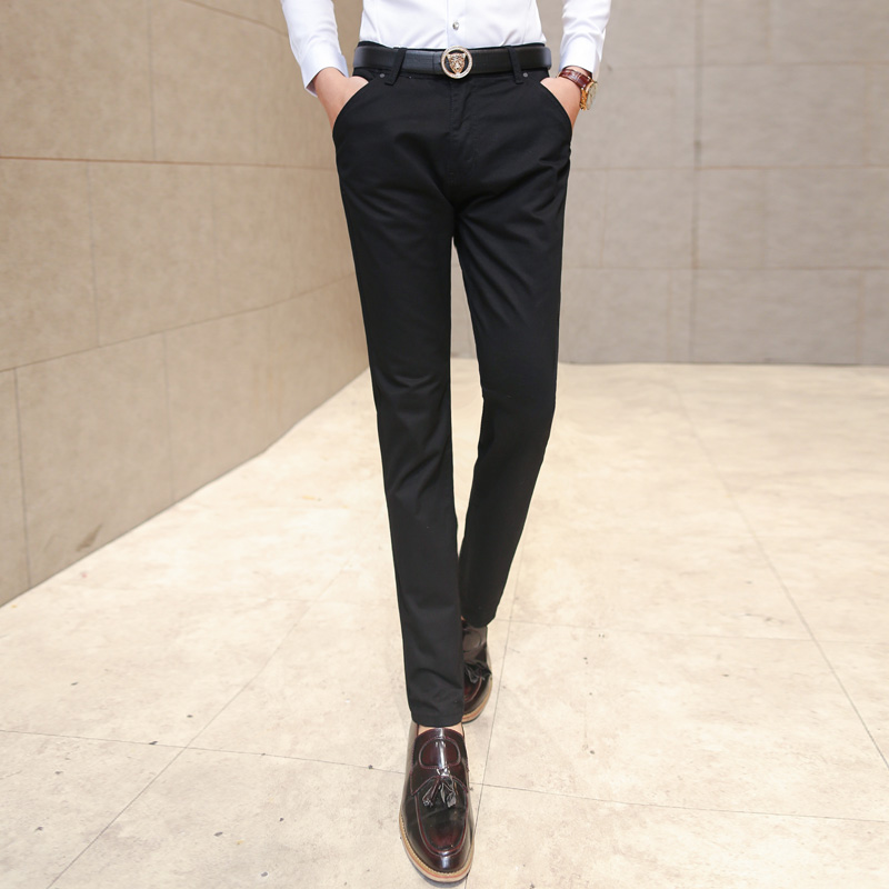 Nice New Men Fashionable Fine Quality Comfortable Pure Color Business Casual Pants / Men Slim Slacks Male Leisure Trousers