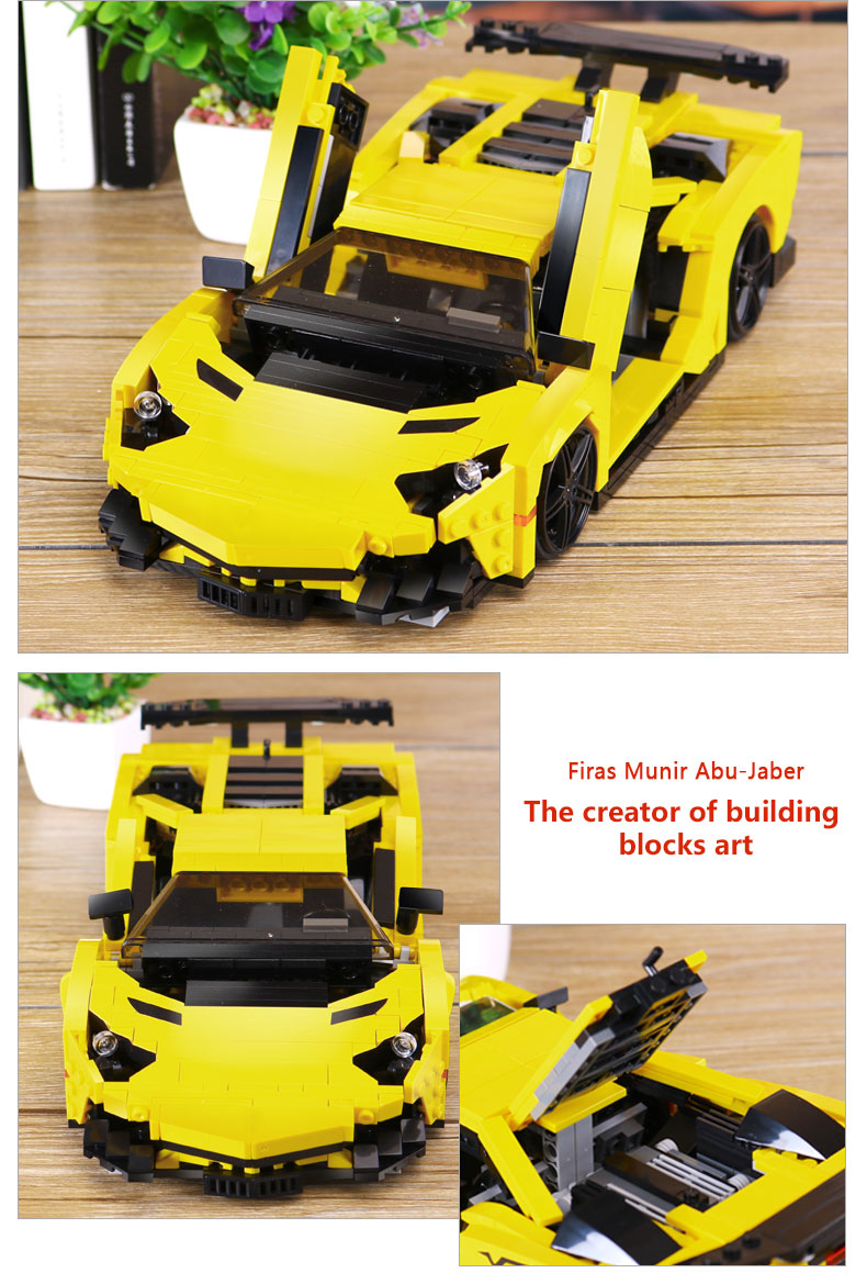 XINGBAO XB-03008 Yellow Lightning Lamborghining Building Block 37