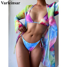 Female Swimsuit Bikini-Set Cover-Up Three-Pieces Swim-V2637 HALTER NEW Women