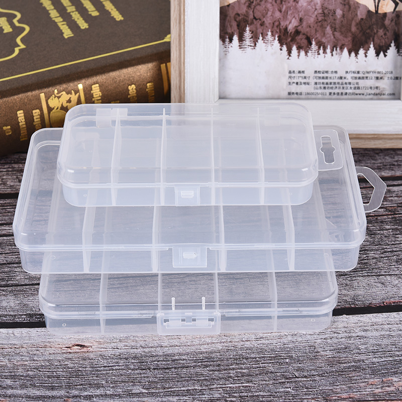 5-Grid Transparent-Connector Hooks Storage-Case Lure Tackle-Sorting-Box Bait Fishing-Tool title=