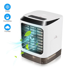 Humidifier Air-Conditioner Portable USB Mini Desktop with Led-Light for Home Office-Cooling-Fan