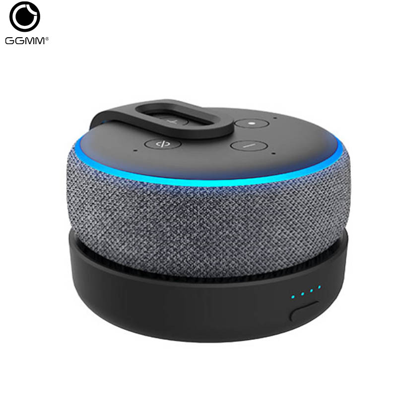 GGMM Battery-Base Charging-Station Enhanced-Sound Echo-Dot 3nd-Generation Portable  title=