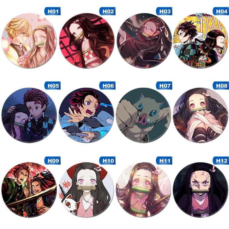 Kawaii Anime Demon Slayer: Kimetsu no Yaiba Kamado Tanjirou  Pin Button Brooch Badge Boy Girl Manga