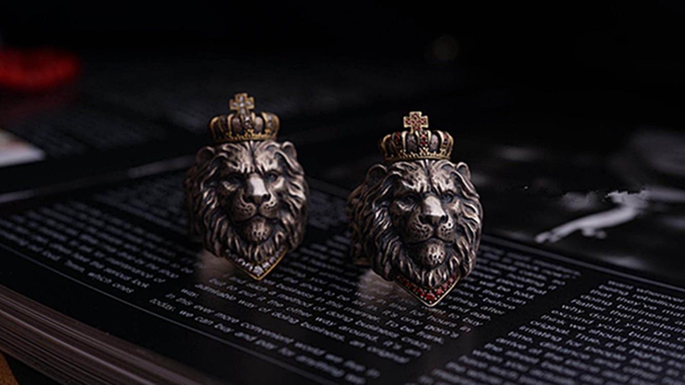 Bague Tête de Lion pas cher | Rasta Lion