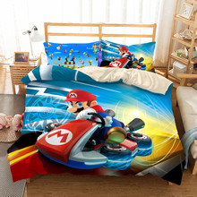 Bedding-Set Super-Cart Mario Single Switch-Game Double-Queen-King Twin Cal