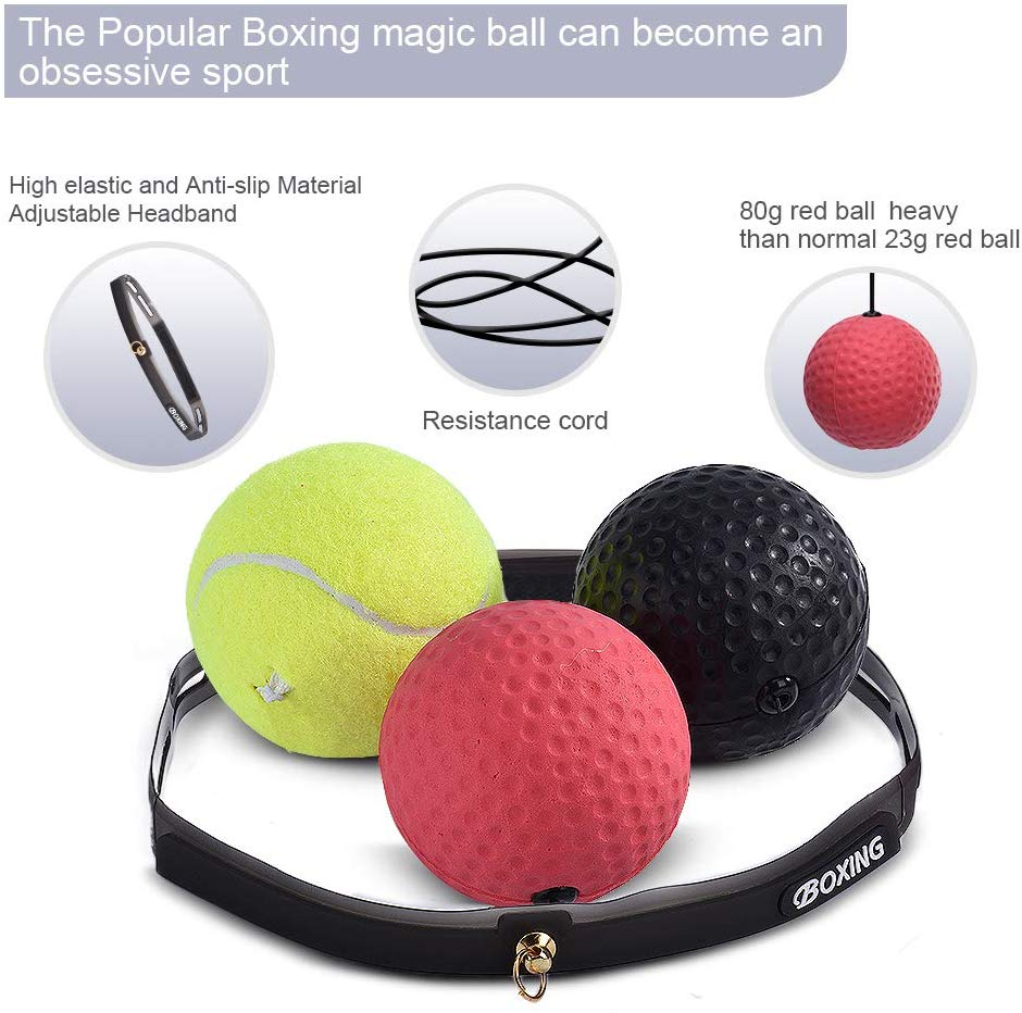 Boxing Training Magic Reaction Fight Speed Ball with Adjustable String Headband