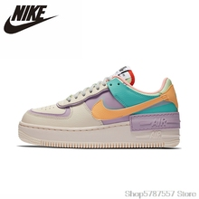 Skateboarding-Shoes Sports-Sneakers Air-Force 1-Shadow Nike Women New-Arrival Original