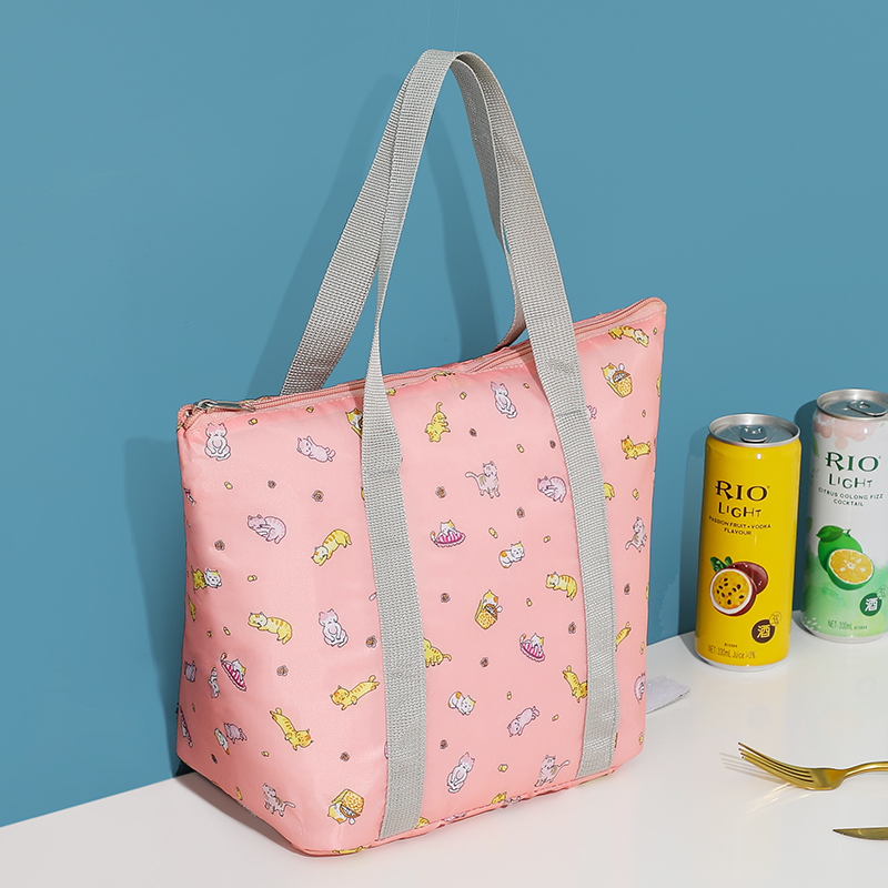 Brivilas print lunch bag women high quality portable cooler bags hand waterproof Picnic travel breakfast food box pack kids new