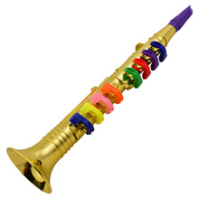 Clarinet Wind-Instruments 8-Colored-Keys for Kids Toddlers ABS with Musical