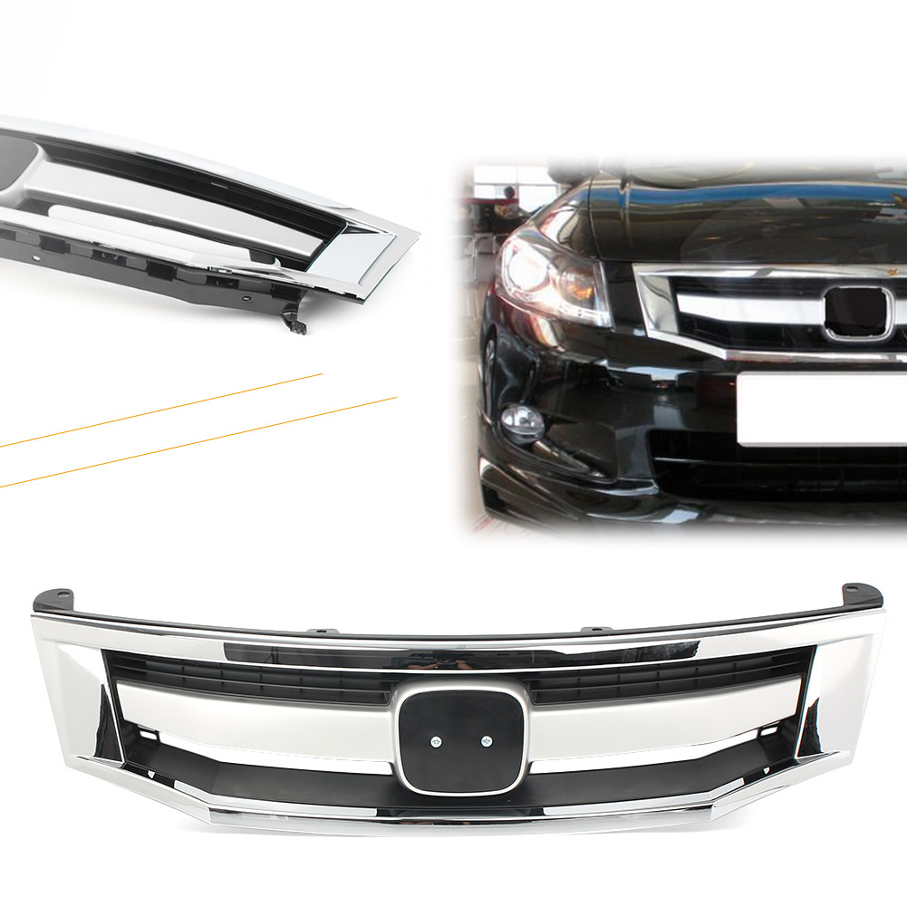 Value Grille Trim Grill Upper Chrome Sedan for Honda Accord OE Quality Replacement
