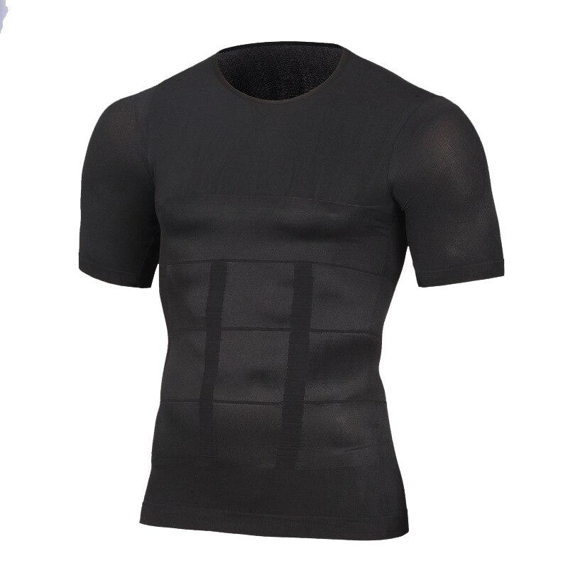 Tummy Belly Control Slim Waist Cincher Tee Shirts Men/'s Slimming Body Shapewear Corset Vest TShirt Compression Abdomen