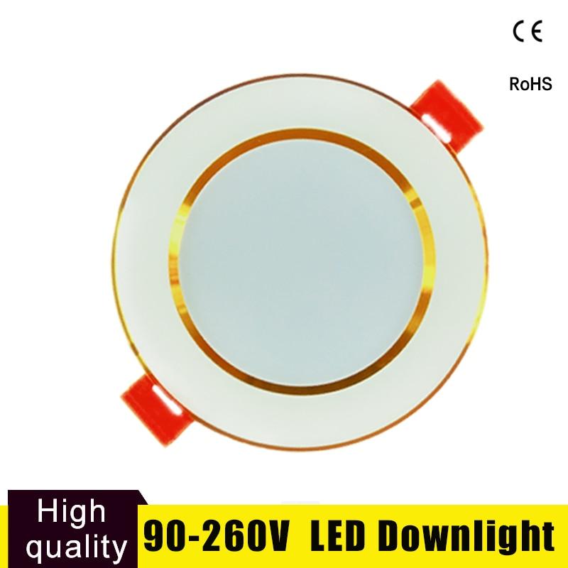 LED Downlight Focos Led Techo Led Bulb 3W-15W Round 220V 110V For Cocina Cuarto Living Room Indoor LED Spot Lighting