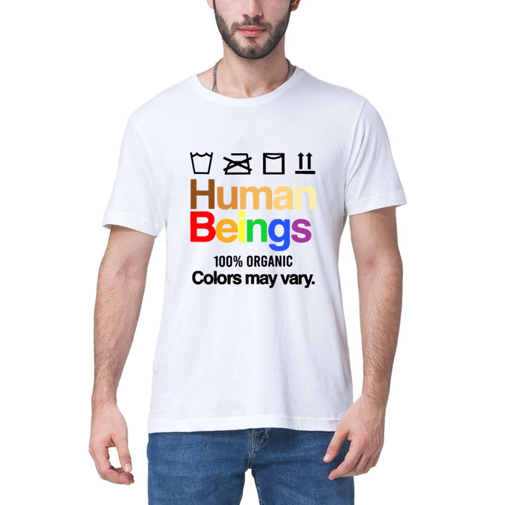 2020 summer New fashion Human Beings 100% Organic Colors May Vary Shirt Funny Gift Men's Cotton T-Shirt Tee women's sweatshirts