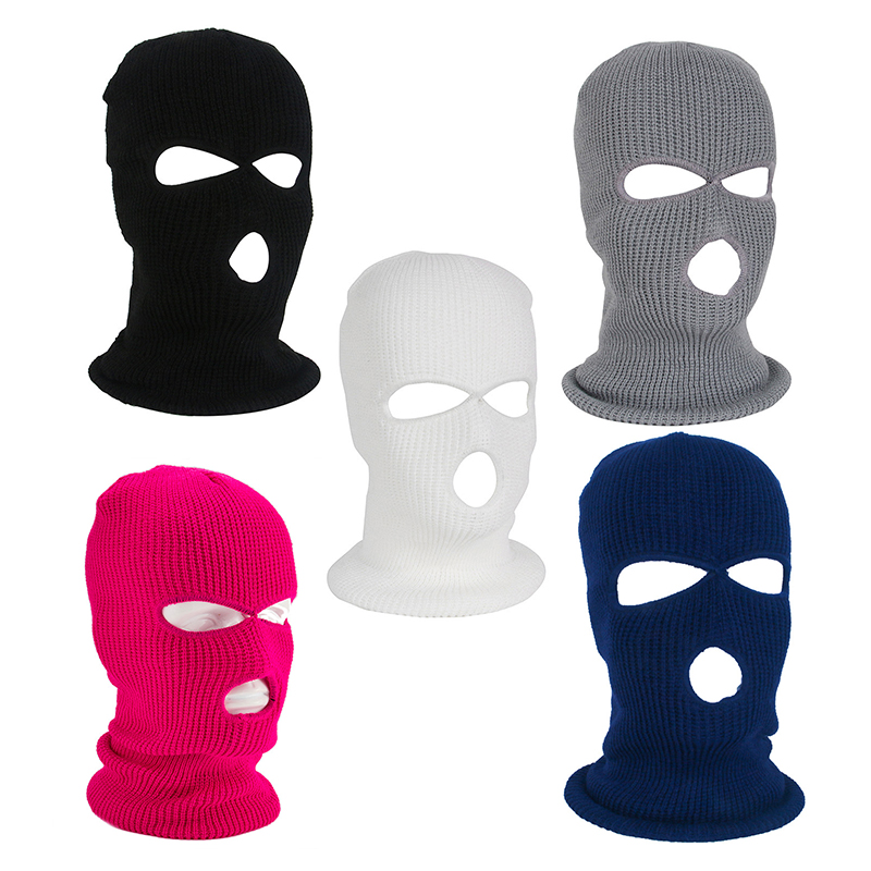 Hood-Cap Balaclava Cycling Full-Face-Mask Army Tactical Winter 3-Hole Warm Ski for Circumference title=