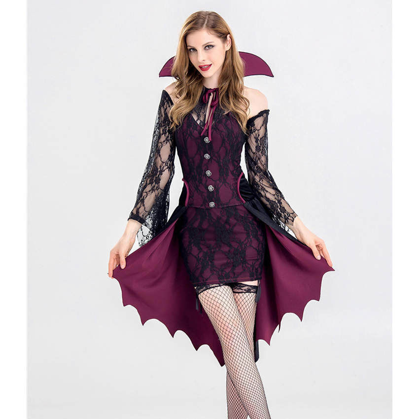 Halloween Party Costume night wandering soul ghost costume night club Carnival Party playing Witch Costume Vampire Clothes