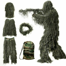 Clothing Ghillie-Suit Jungle Multicam Shooting Military Sniper Woodland Green Camouflage