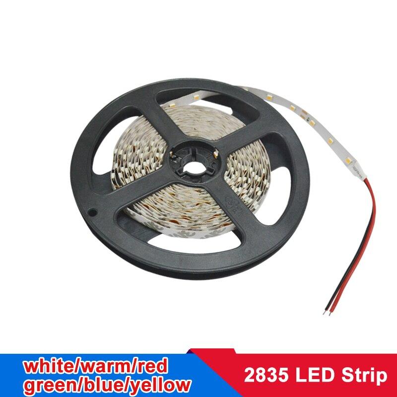 5m LED Strip 2835 SMD Flexible Strip LED Lights Lamps RBG Warm White Red Green Blue 12v DC Led Ribbon Tape