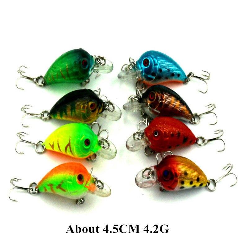 Super Deal Mini Crankbait Fishing Lure Hard Plastic Crank Bait with Treble Hook Fishing Accessories (1)