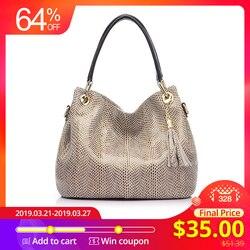 Женская сумка из натуральной кожи REALER, большая сумка через плечо, сумки женские натуральная кожа, модная ручная сумка высокого качества 2019