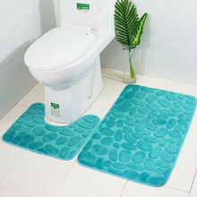 Toilet-Rug Anti-Slip-Carpet Bath Mat Suction-Grip Rubber Extra-Mat with Backing Funnel