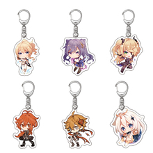 Acrylic Keychain Pendant Car-Keyring Game Anime Small Genshin Impact Cartoon Delicacy-Bag