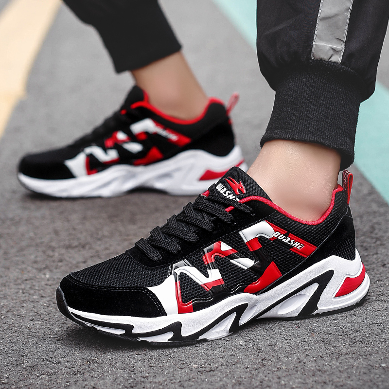 Men Sports Shoes Air Mesh Rubber Lace-up Trend Sneakers For Man New Zapatos Hombre Sports Running Training Shoes For Men Brand