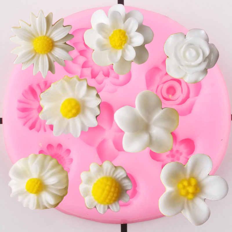 Flower Leaf Silicone Fondant Mould Cake Decor Chocolate Bake DIY Mold YD