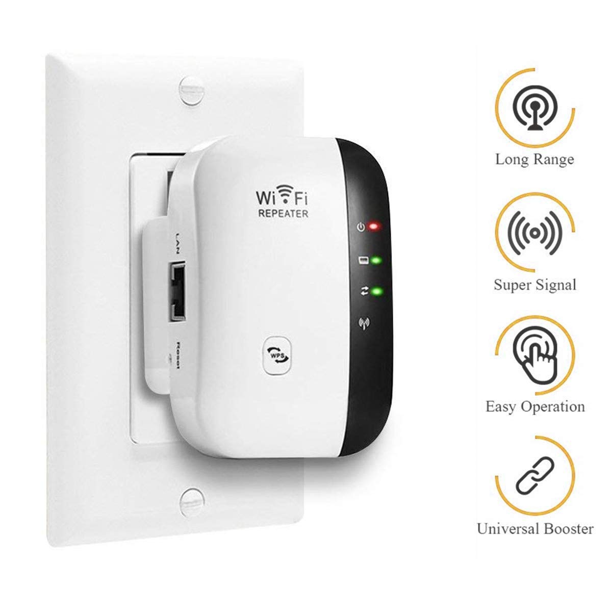 WiFi Range Extender 300Mbps Wireless Signal Amplifier Booster Router Mode Repeat