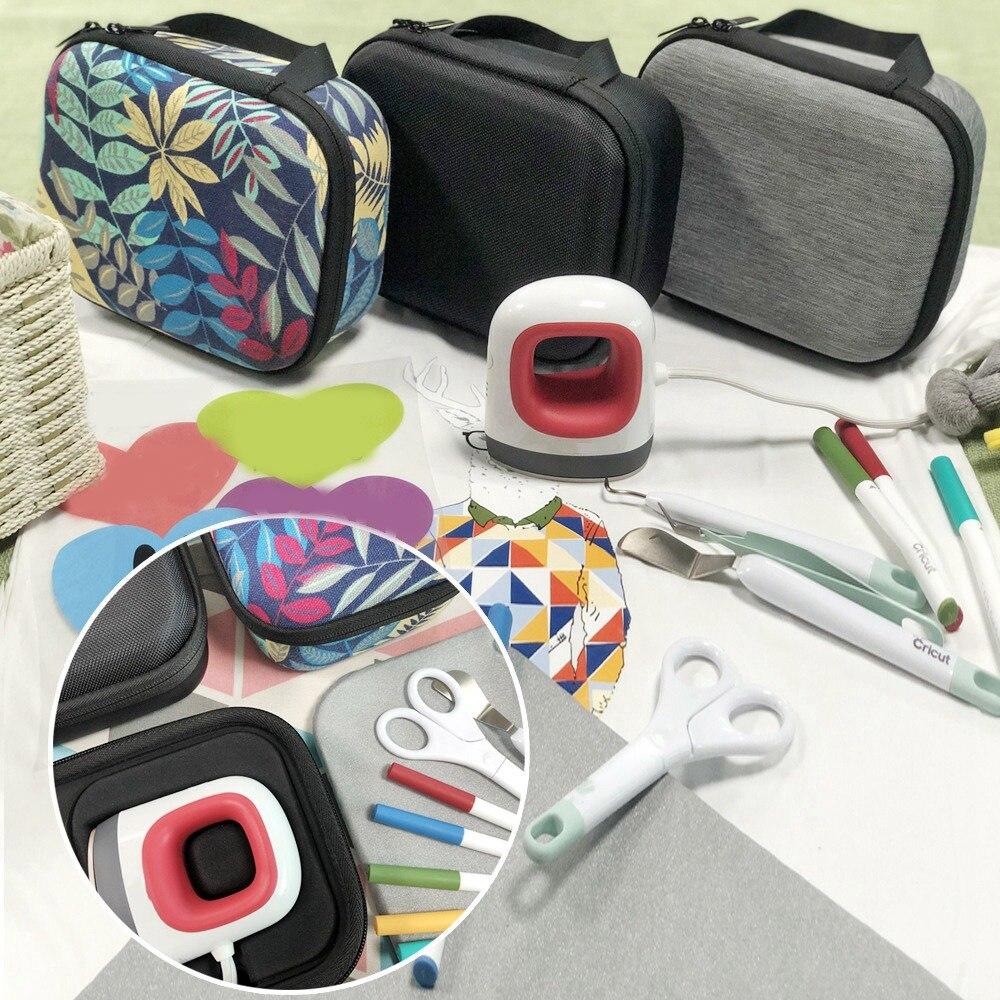 2 Piezas Mini Bolsa de Transporte Caja de EVA Kit de Herramientas de Bricolaje para Almacenar Juegos de Bobinas Cortadores de Alambre Tijeras Destornillador Cigarrillos Electr/ónicos Negro