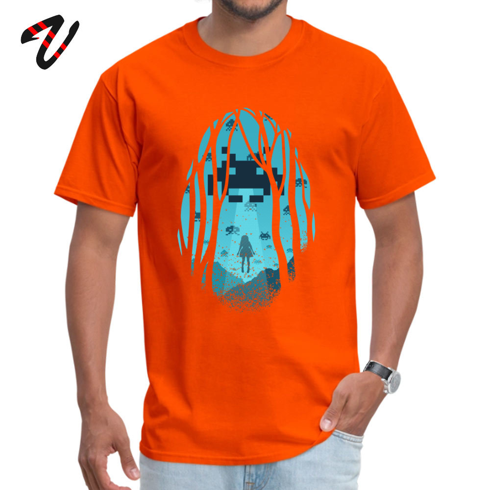 Tops & Tees BitInvasion Tee-Shirts Summer Rife Summer Short Sleeve 100% Cotton O-Neck Men T Shirt Summer Wholesale 8_Bit_Invasion_7647 orange