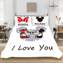 Disney Cartoon Bedding Mickey Mouse Mickey Minnie Duvet(China)