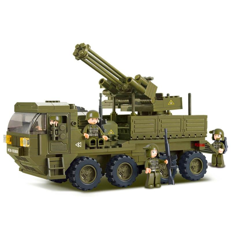 NEW 306PCS Military Heavy Transport Truck Antiaircraft artillery Building Blocks