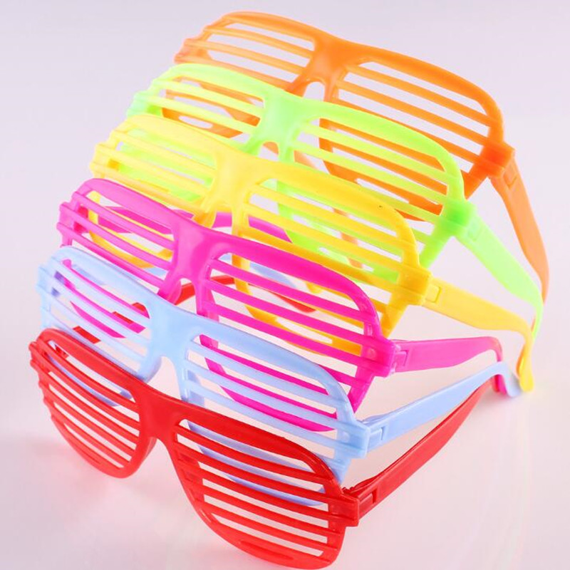 Free Delivery Colourful Shutter Shades Glasses Party Fancy Dress Bright