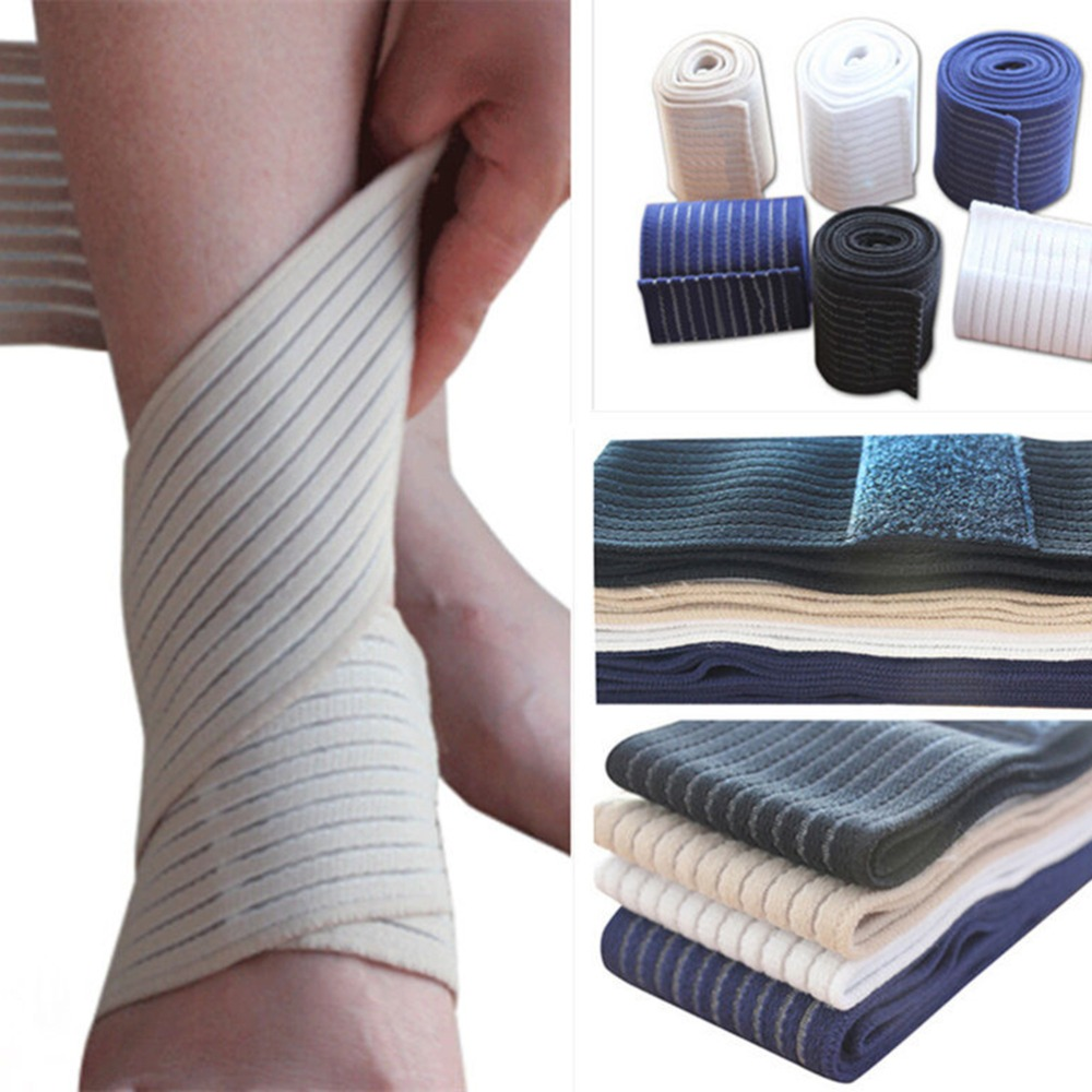 Adjustable Ankle Support Spirally Wound Bandage Volleyball Basketball Ankle Orotection Elastic Bands 4 Colors