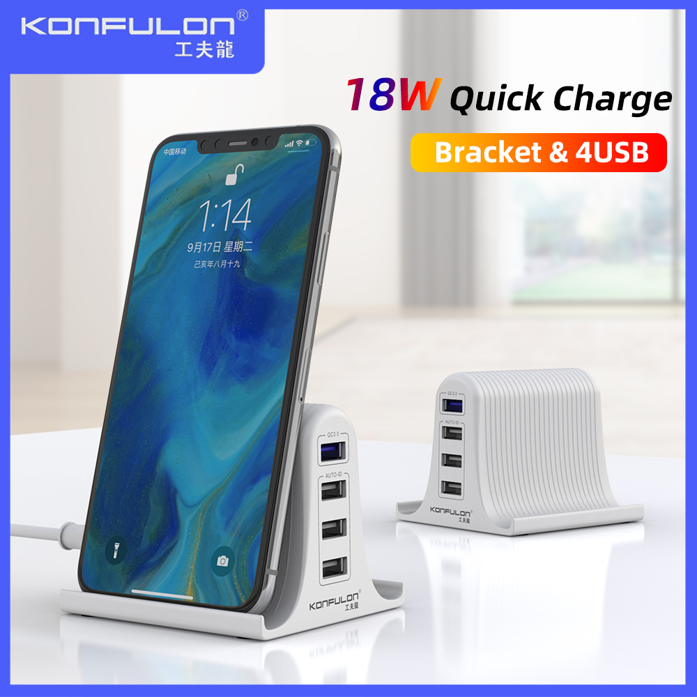 30W Quick Charge 3.0 Multi USB Charger Mobile Phone Charger Max 3A EU US UK Destop Charger For Mobile Phone QC3.0 Charger title=