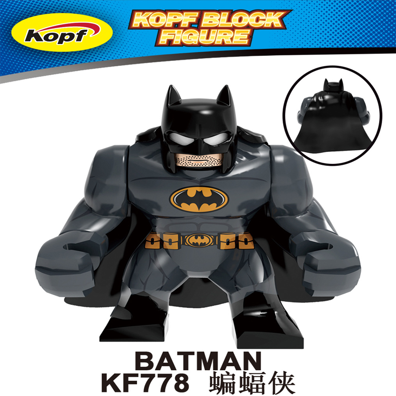 LEGOING Batman Gifts Toys KF778 Super Heroes Action Model Figures DC Movie Figures Legoings Marvel Big Size Bricks Avengers Kits