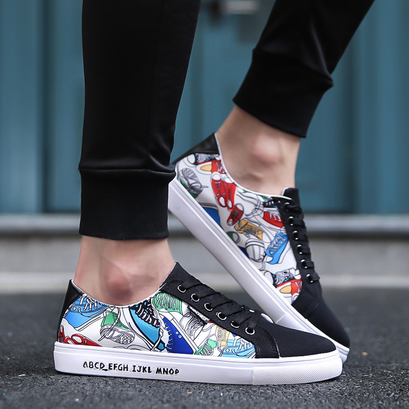 2019 Mens Casual Canvas Shoes For Men Lace-up Breathable Summer Autumn Tenis Masculino Adulto Flats Sneakers Fashion Male Shoes