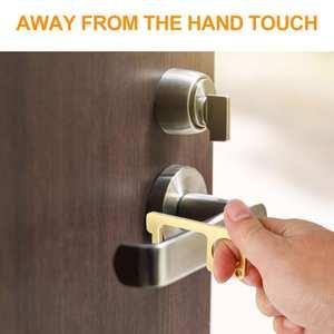 Elevator-Key-Buckle No-Touch-Key Alloy-Door Defender-Press Magic-Key No-Touch Door Opener 4 Pcs